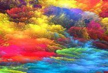 Abstract / Dingen die mij raken, door lijnen en kleuren.
