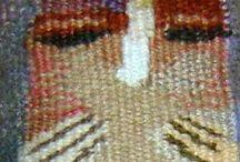 мои гобеленовые куклы / мои куклы сделанные с применением ручного ткачества гобелена