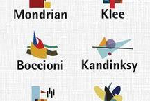 Picasso, Le Corbusier, Miro,  Kandinsky, Klee, Pollock, Matisse