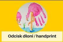 Odcisk dłoni, stóp / handprint