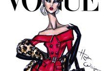 Fashion illustrations of magazines