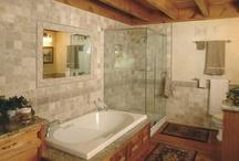 Rustic Bathrooms / Rustic elegance in these bathrooms.