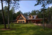 Log Homes / A variety of log home exterior photos.