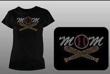 "Baseball Rhinestone Transfers / Baseball themed iron-on hotfix rhinestone heat transfers for diy t-shirts and sweatshirts.  Perfect for ""fan wear""."