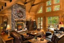 Log Home Living Rooms / Here are some living rooms designed and decorated by some of our homeowners.