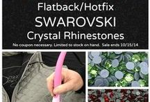 Flatback Hotfix Swarovski Crystal Rhinestones / Iron-on Flatback Hotfix Swarovski Crystal Rhinestone colors and projects