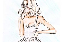 Illustrations for fashion