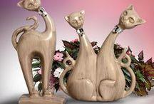 Gatos Decorativos / Para os amantes de gatos, uma linda opção para decorar a casa com esses mimos.