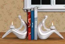 Porta Livros Decorativos / Decore sua estante com livros e estes lindos aparadores de livros.