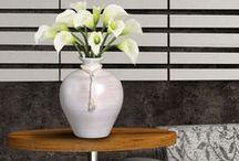 Peças Decorativas de textura Pérola / Lindas e sofisticadas estas peças deixam qualquer ambiente mais valorizado.