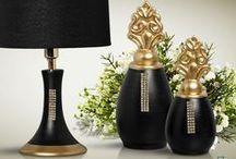 Decoração Preto com Dourado / Muita classe e puro requinte com estas peças.