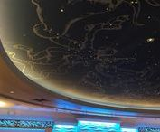 Celestial Weddings ~ Arnaldo's Banquet Center / Arnaldo's is the perfect venue for your celestial or astronomy themed wedding. Our dome lit constellation ceiling in Ballroom One and our crescent moons in Ballroom Two add drama to any event. http://www.arnaldosbanquetcenter.com/