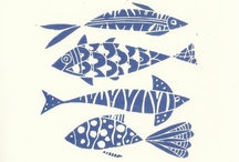 INSPIRATION // Nautical Style / Quirky seaside fish cafe inspiration for packaging, interiors, design, web and graphics. Lots of fish! #2395