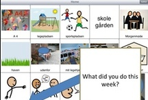 What did you do today? Thank you Lotte, for practical AAC! / From Denmark, this dynamic set of boards facilitates daily conversation between home and school.   Pinterest doesn't allow to arrange pins, so the sequence in row 2 is out of order. We started each description with the sort order number.