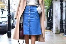 buy less, think more: denim skirt / This board is full of outfit inspiration and ideas to help maximise your cost per wear. www.stylestaples.com.au