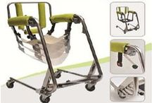 BodyUp Transfer System / With the BodyUp Transfer System, you can lift and transfer your patient or loved one from a bed, sofa or wheelchair, even out to your vehicle. It can also be used as a transport chair, shower chair or bathroom chair. This versatility makes it a must-have piece of equipment for institutions and caregivers everywhere.