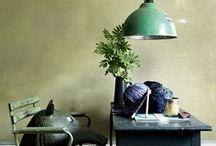 Groene hanglampen / Groene hanglampen brengen een vrolijke tint in uw huis.