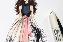 fashion illustrations,♡