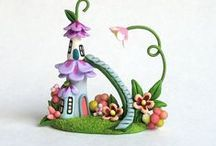 Fairy houses and fairy stuff/ Elfenhuisjes en elfenspullen