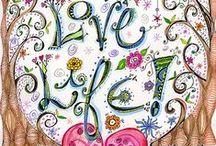 Dangles, doodles and lettering/ Lettertekeningen en versieringen