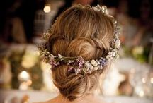 Bridal Hair / Perfect hair styles and accessories for future brides. Wedding inspiration for all of the bridal party.