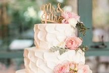 Let them eat cake! / Inspiration for wedding cakes. From naked cakes to donut cakes, see what captures your attention and matches your personality for the perfect wedding cake!