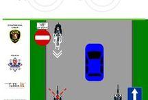 Edukacja / Education / Ulotki edukacyjno - Informacyjne w szczególności dla rowerzystów ale też dla pieszych i kierowców. Leaflets educational  - information specifically for cyclists but also for pedestrians and drivers.