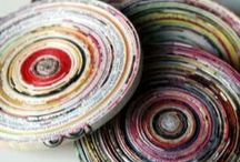 crafts recycled newspaper / Artesanato com jornal.