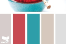 Color: Blue + Coral/Red