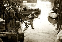 Eastland Disaster / Photos highlighting the Eastland Disaster on July 24, 1915, when the Eastland steamer capsized into the Chicago River, leading to one of the biggest losses of life in the city's history. Learn more here: http://blog.chicagohistory.org/index.php/2012/07/remembering-the-eastland/ and here: http://www.encyclopedia.chicagohistory.org/pages/408.html