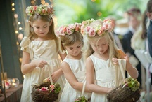 Flowergirl bouquets and crowns