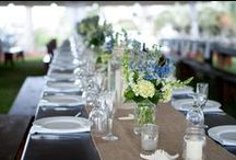 Tuscan or farm table centerpieces