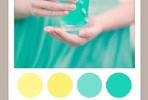 Color: Turquoise + Yellow