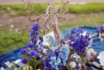 """Centerpieces with Branches / by """"I Do""""...Balloons, Weddings, & Events"""