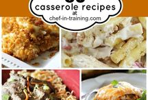 Casseroles / I love one dish meals. Quick but delicious. Just bread and a salad.  / by Sharon Hall