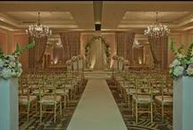 Corcoran BALLROOM Ceremony set ups / One of DC's most distinctive  ballrooms, the CORCORAN BALLROOM is richly decorated with warm gold and taupe hues, creating an elegant yet modern backdrop for any ceremony.