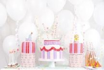 Party Styling / food & dessert table inspiration, garlands, balloons, drink stations, etc.