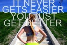 Motivational exercise quotes. / Words to push and inspire.