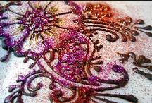 My henna: glitter