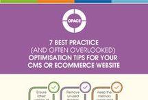 Web, SEO and Social Media Infographics / Useful infographics illustrating the Web, SEO and Social Media.