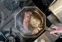 """FINEX CAST IRON TEST DRIVE / Hand-Eye Supply recently took their 12"""" FINEX Cast Iron Skillet on a sizzling test drive.  The verdict?    http://www.handeyesupply.com/blogs/projects/13828777-finex-skillets-precision-tools-for-good-food"""