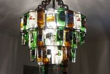 Upcycled DIY lamps & lights