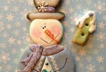 рождество и новый год / Новогодние пряники, идеи оформления.