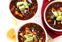 S O U P S / Plant-based soup ideas to keep your bellies and hearts warm in the chilly months!