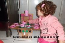 Coisas de Brincar / Brincadeiras criadas por mamãe e papai da Lara e postadas no blog Coisas da Lara.