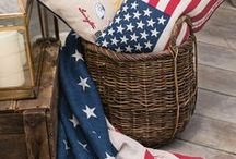 LEXINGTON STARS & STRIPES / Red, white and blue! Happy 4th of july! Get inspired by American traditions, the New England area and the East Coast way of living.