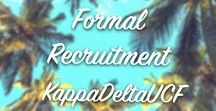 Formal Recruitment / Kappa Delta Sorority is committed to providing opportunities and experiences that inspire women to greatness. We love participating in Formal Recruitment every fall semester!