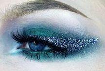 When In Doubt, Just Add Glitter / Glittery makeup looks.