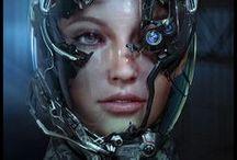 Zbrush - Cyberpunk/Mech suit / Cyberpunk, Mech suit, Hard Surface design idea for sculpt!