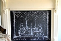 { faux fireplace to sizzle } / Creative faux fireplace designs